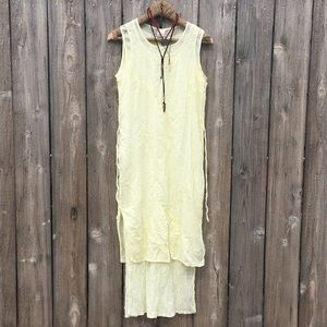 Vintage hand embroidered dress